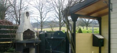 Uitzicht vanaf het terras voor